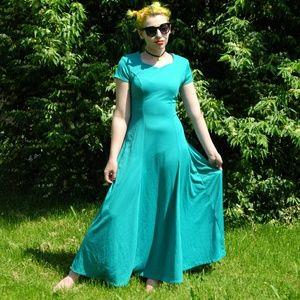 Teal Formal wear dress